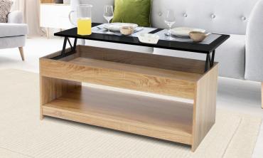 Table basse avec plateau relevable grand modèle Carra