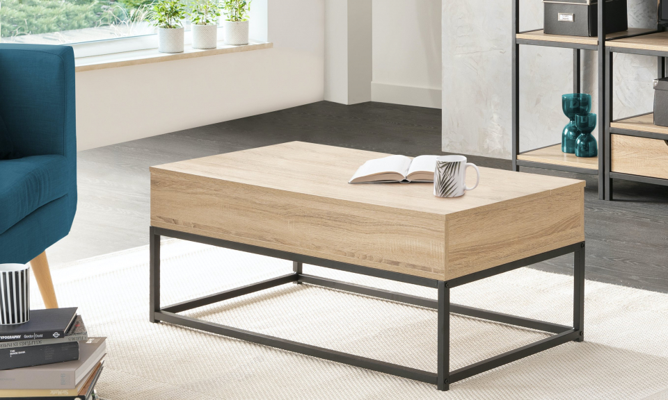Table basse plateau relevable Manufacture