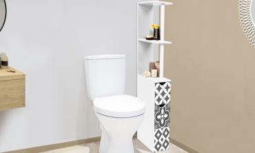 Étagère WC carreaux de ciment