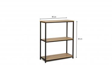 Console / étagère design indus 3 niveaux Manufacture