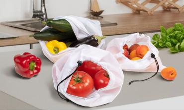 Sacs fruits et légumes réutilisables - lot de 10
