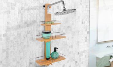 Etagère de douche à suspendre Bambou